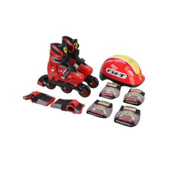 ENSEMBLE ROLLEUR ENFANT FERRARI RED/BLACK