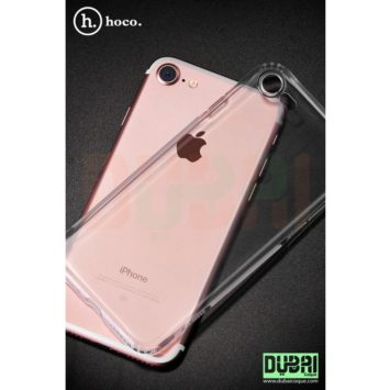 POCHETTE DE PROTECTION TRANSPARENTE EN SILICONE AVEC INCASSABLE POUR IPHONE