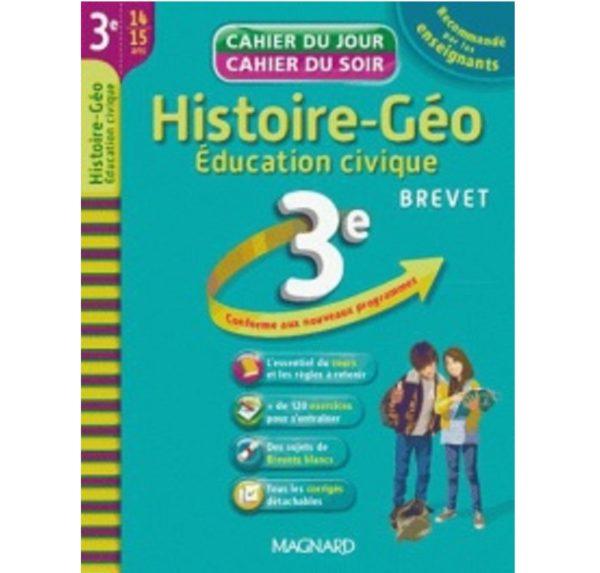 Cahier du jour cahier du soir Histoire-Géo Education civique 3e